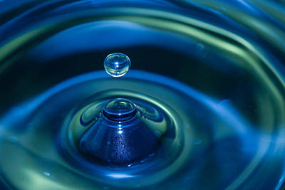 Blue Green Splash Poster