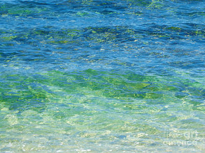 Blue Green Waves Poster