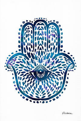 Blue Hamsa Hand Poster