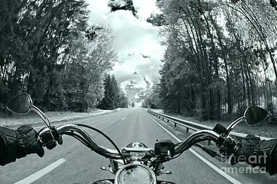 Blue Harley Poster