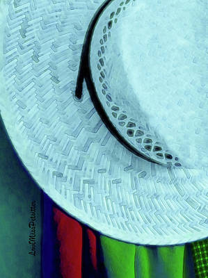 Blue Hat Painting Poster