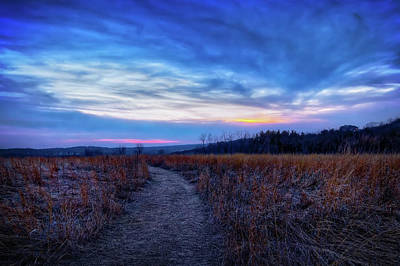 Blue Hour After Sunset At Retzer Nature Center Poster by Jennifer Rondinelli Reilly - Fine Art Photography
