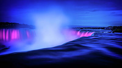 Blue Hour At Niagara Falls Poster