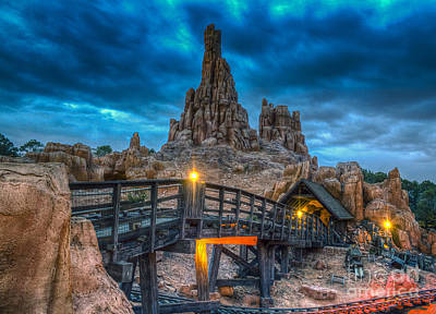 Blue Hour Over Big Thunder Mountain Poster