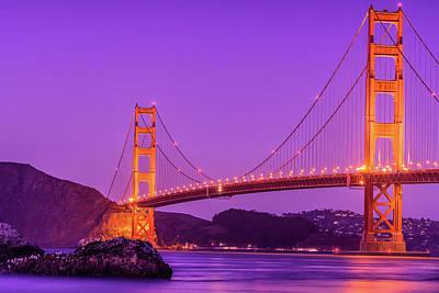 Golden Gate Bridge In The Blue Hour Poster