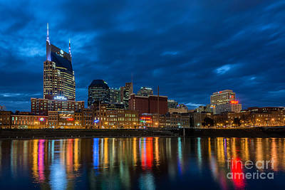 Blue Hour Reflections Poster by Anthony Heflin
