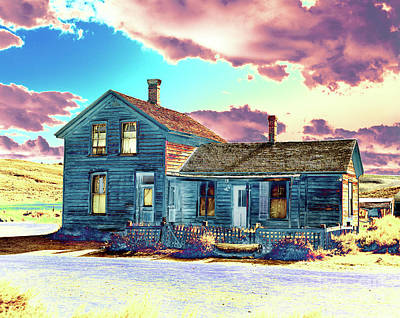 Poster featuring the photograph Blue House by Jim and Emily Bush