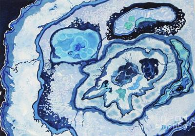 Poster featuring the painting Blue Lace Agate I by Ellen Levinson