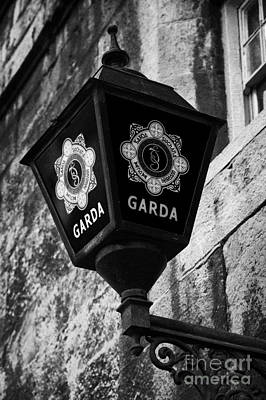 Blue Lamp Above Station Door For The Garda Siochana Na Heireann The Irish Police Force In Dublin Poster