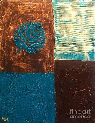Blue Leaf Poster by Marsha Heiken