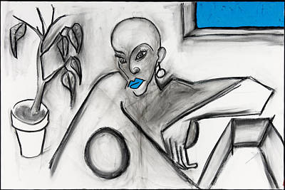 Blue Lips 24x36 Poster