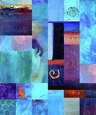 Poster featuring the digital art Blue Love by Nancy Merkle