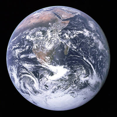 Blue Marble - Image Of The Earth From Apollo 17 Poster by Nasa