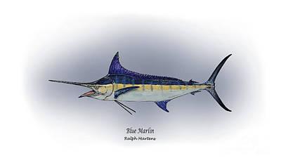Blue Marlin Poster by Ralph Martens