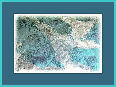 Poster featuring the photograph Blue Maze by Athala Carole Bruckner