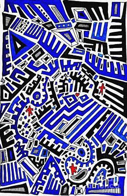 Blue Maze Poster