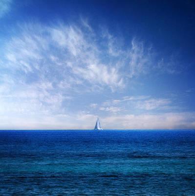 Blue Mediterranean Poster