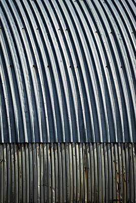 Blue Metal Roof For Arc The Hangar Poster by Jozef Jankola