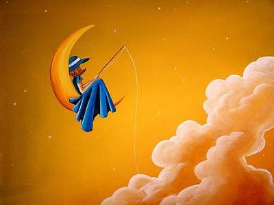 Blue Moon Poster by Cindy Thornton