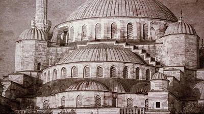 Blue Mosque - Vintage Print Poster
