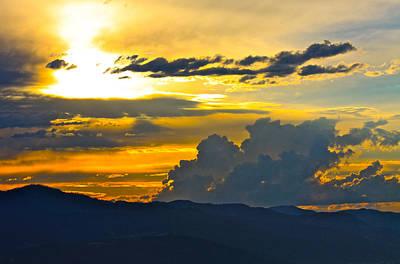 Blue Mountain Sunset Poster