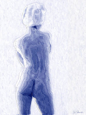 Blue Nude Poster by Joe Bonita