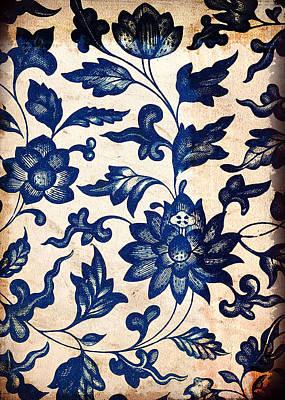 Blue Oriental Vintage Tile 06 Poster