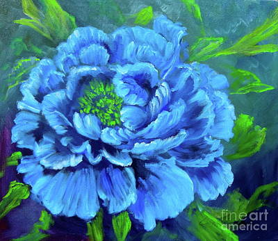 Blue Peony Jenny Lee Discount Poster