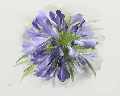 Blue Purple Flowers Poster