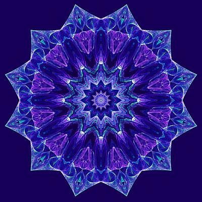 Blue And Purple Mandala Fractal Poster