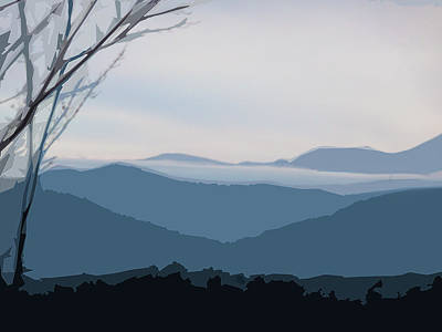 Blue Ridge Above The Clouds Poster