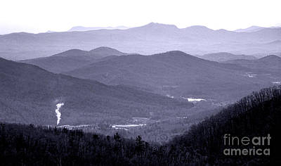 Blue Ridge Impression Poster by Olivier Le Queinec