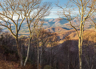 Poster featuring the photograph Blue Ridge Longshadows by Carl Amoth