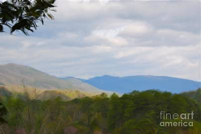Poster featuring the painting Blue Ridge Mountain by Jan Daniels