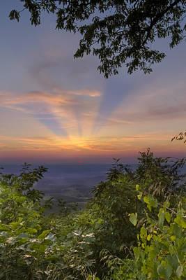 Blue Ridge Mountain Sunset Poster by Debra and Dave Vanderlaan