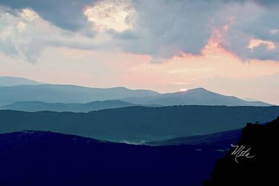 Blue Ridge Mountain Sunset Poster