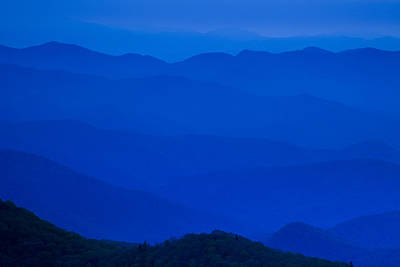 Blue Ridge Mountains Poster by Andrew Soundarajan