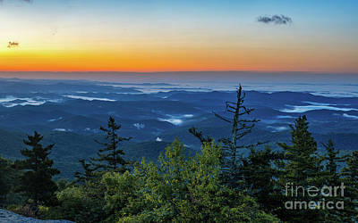 Blue Ridge Mountains Sunrise Poster