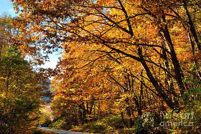 Blue Ridge Parkway Americas Favorite Drive Poster by Dan Carmichael