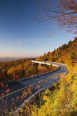 Blue Ridge Parkway Linn Cove Viaduct Fall Colors 2 Poster