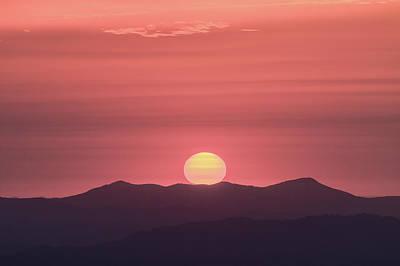 Blue Ridge Parkway Sunrise - A Close View Poster