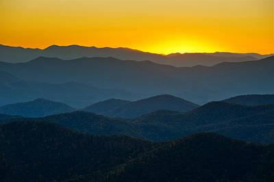Blue Ridge Parkway Sunset Nc - Afterglow Poster
