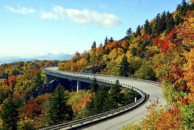 Poster featuring the photograph Blue Ridge Parkway Viaduct by Meta Gatschenberger