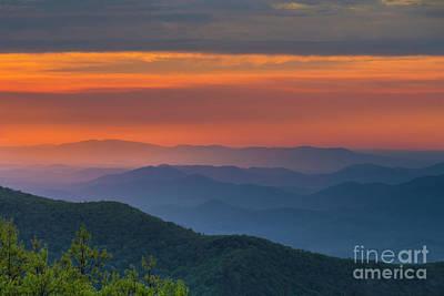 Blue Ridge Sunrise At Wintergreen  Poster