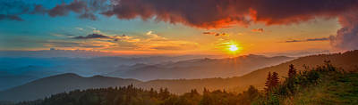 Blue Ridge Sunset Pano Poster