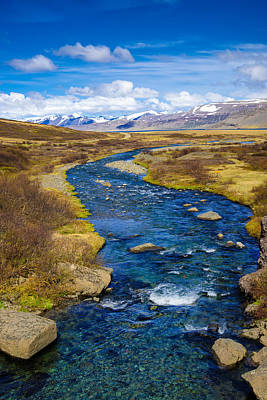 Blue River In The West Fjords In Iceland Poster