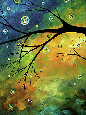 Blue Sapphire 2 By Madart Poster by Megan Duncanson