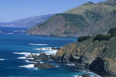 Blue Seas - Highway One California Poster by Soli Deo Gloria Wilderness And Wildlife Photography