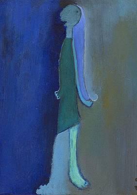 Blue Shadow Poster by Ricky Sencion