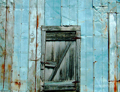 Blue Shed Door  Hwy 61 Mississippi Poster